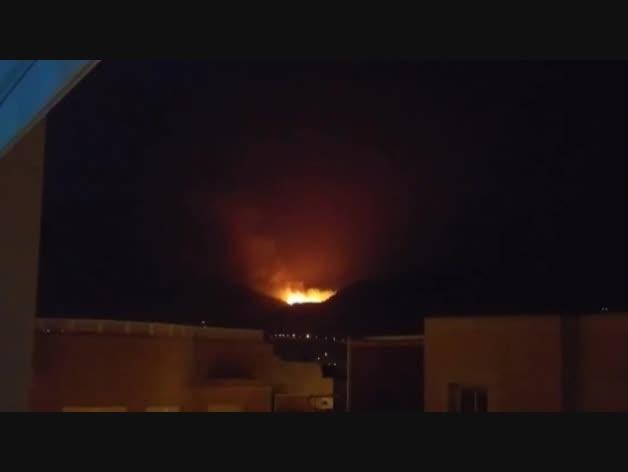El incendio del monte Gurugú, visible desde Melilla