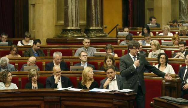 Sesión de control al Govern en el Parlamento catalán.