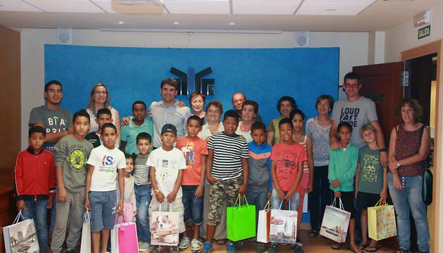 Foto de grupo de la visita.