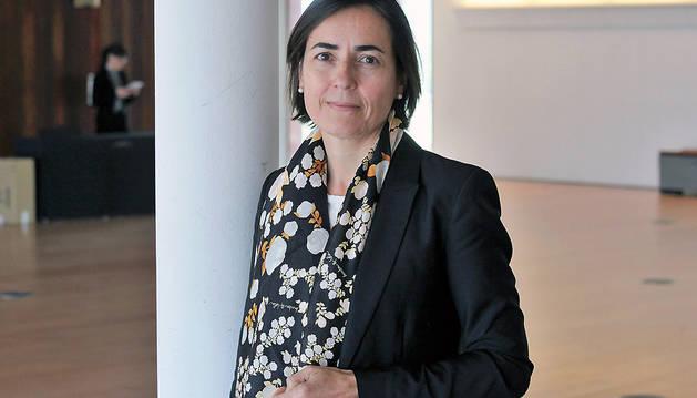 María Seguí, directora general de la DGT, durante su visita a Pamplona con motivo del Congreso de la Sociedad Española del Dolor.
