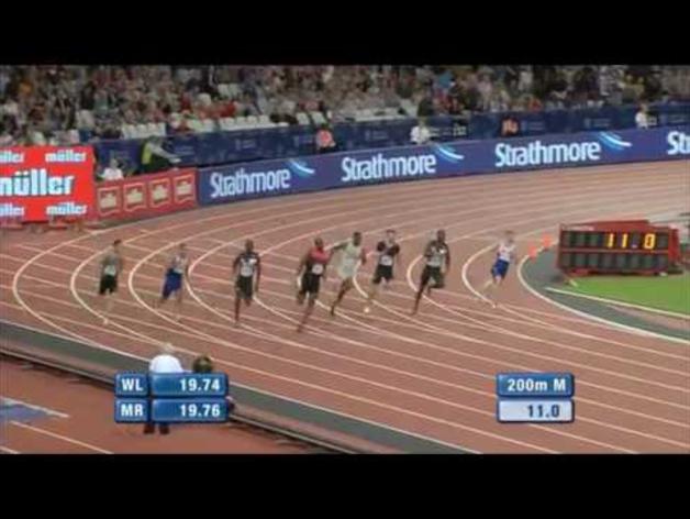 Bruno Hortelano, récord de España de 200 metros