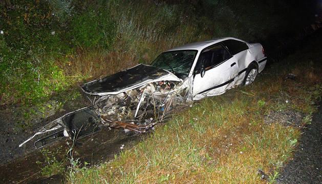 Herido grave un joven de Aldatz en un accidente en la A-15 en Larraun
