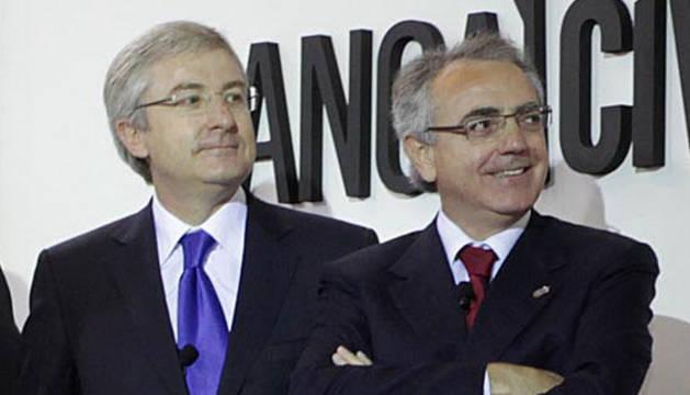 Enrique Goñi y Miguel Sanz, en una imagen de archivo.