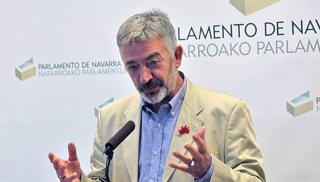 El portavoz parlamentario de Geroa Bai, Koldo Martínez.