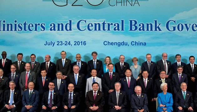 Cumbre de los ministros de Finanzas del G20 en China.