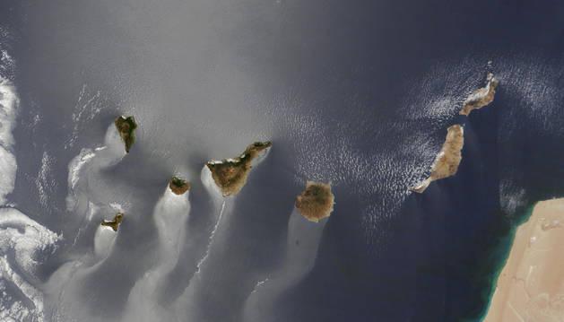 Imagen aérea de las islas canarias.