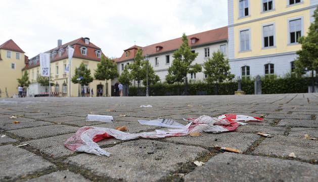 Vista del lugar del ataque en Ansbach (Alemania).