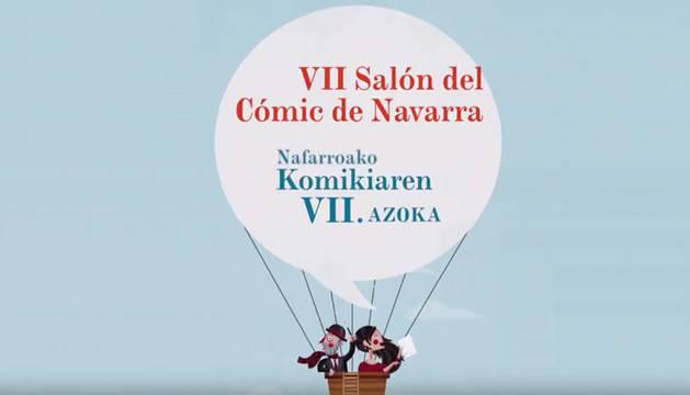 Cartel del VII Salón del Cómic de Navarra.