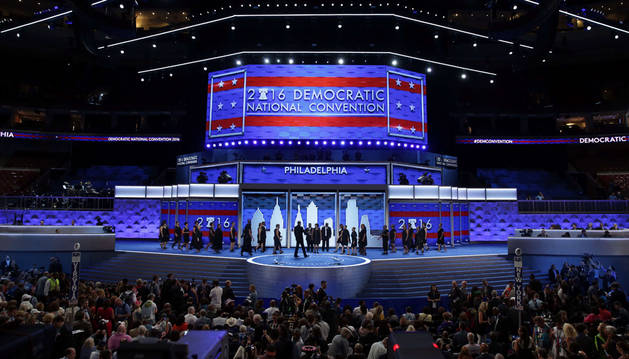 Convención Demócrata en Wells Fargo, Filadelfia.