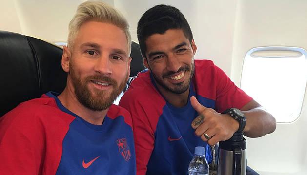 Messi vuelve al trabajo en el Barcelona con nuevo look
