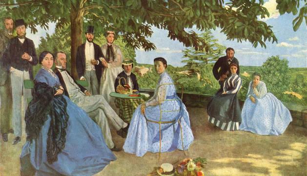 'Retrato de una familia', obra de Frédéric Bazille.