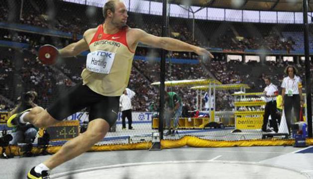 Robert Harting, en una de sus competiciones.