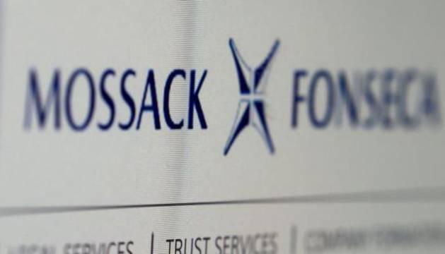Logotipo del bufete de abogados Mossack Fonseca, en Panamá.