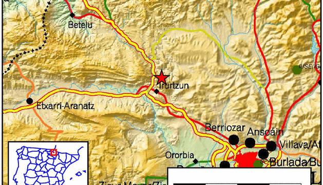 El epicentro se ha registrado al norte de Irurtzun.