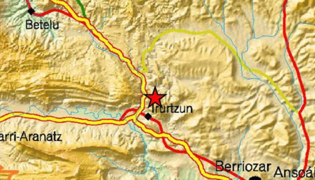 Un temblor de 3,4 grados se siente en Irurtzun y en la Ultzama