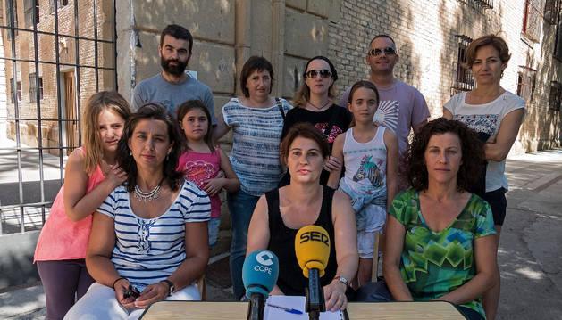 Padres y alumnos de la escuela municipal de música Julián Romano de  Estella.