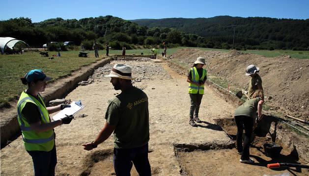 Avanza el estudio de la gran calzada romana del Pirineo
