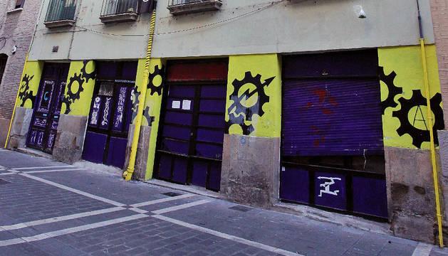 El edificio de la calle Compañía, de nuevo okupado.