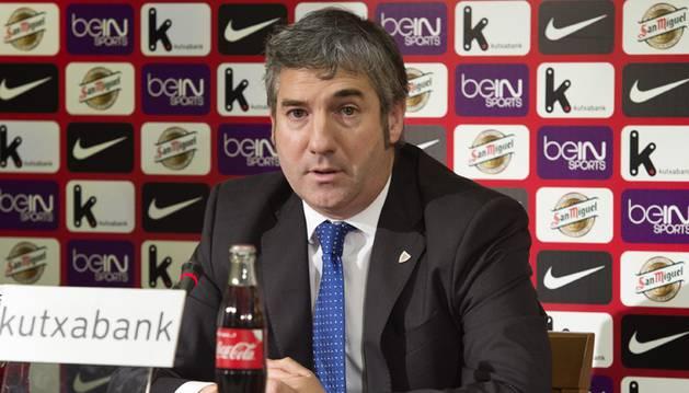 El presidente del Athletic, Josu Urrutia.