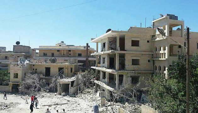 Un hospital materno-infantil bombardeado en Siria