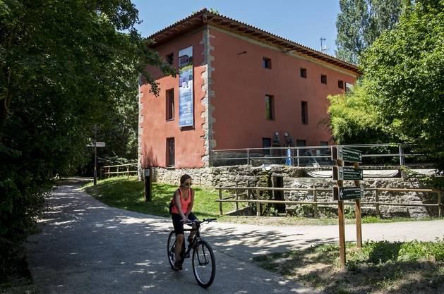Parque fluvial en bicicleta