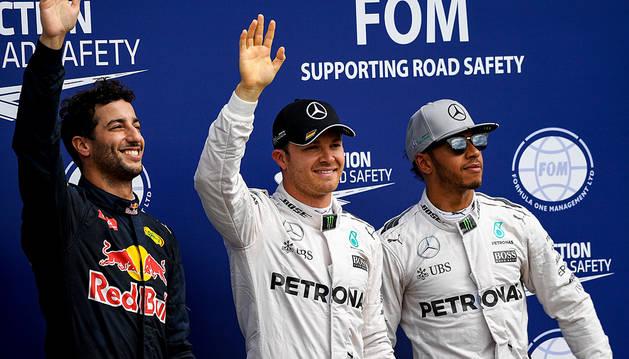 Nico Rosberg logra la pole en 'casa'