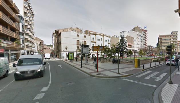 Avenida de Zaragoza, a la altura del paseo de Invierno, lugar del suceso.