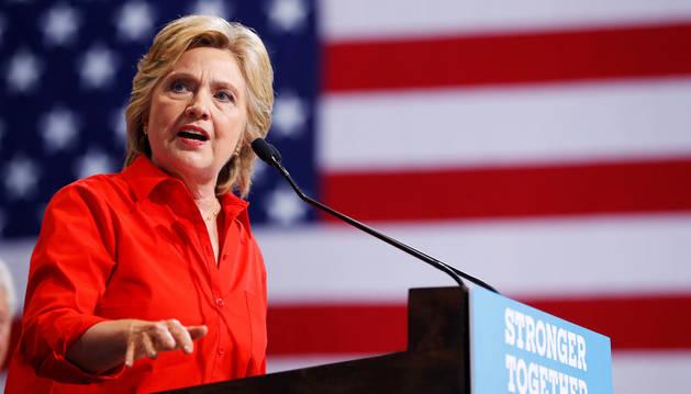La candidata a la Casa Blanca por el partido Demócrata, Hillary Clinton.