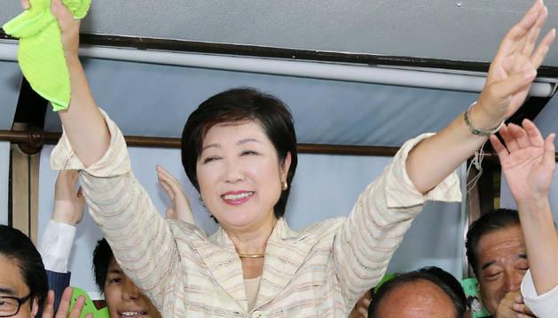 Yuriko Koike, primera mujer en ganar las elecciones al gobierno de Tokio