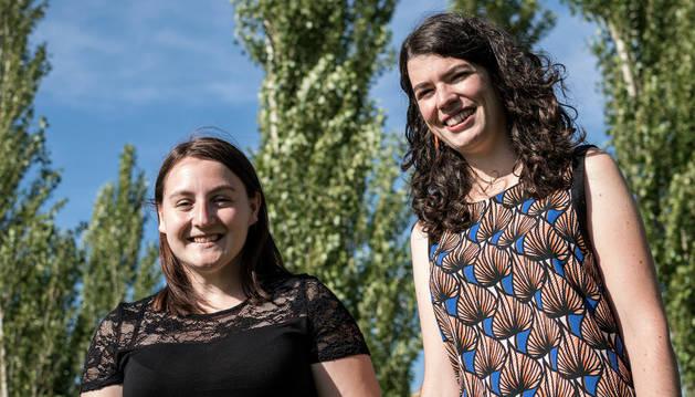 Laura Morales Sanz de Galdeano (izq.) y Marta Calvo Uyarra, la semana pasada en Pamplona.
