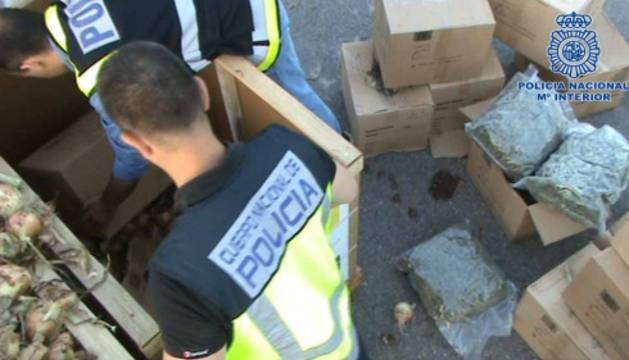 Intervienen 205 kilos de marihuana destinados a Berlín ocultos entre cebollas