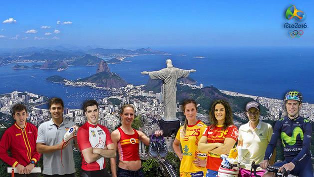 Los navarros que competirán en los JJ OO de Río de Janeiro 2016.