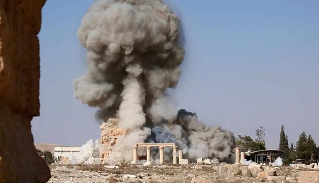 Captura de un vídeo del EI de un ataque a Palmira.