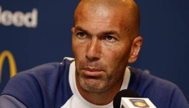 Zidane, durante una rueda de prensa.