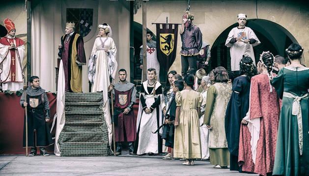 Los Reyes de Olite durante las fiestas medievales del año pasado.