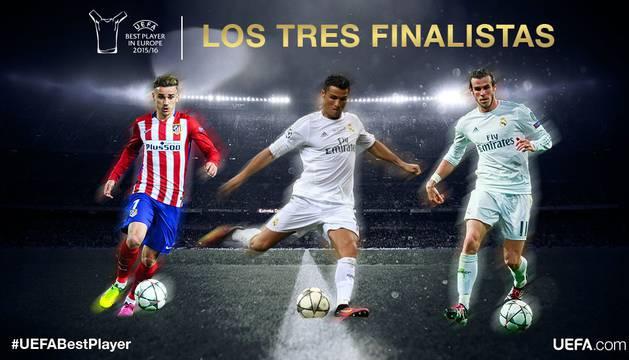 Los tres nominados por la UEFA.