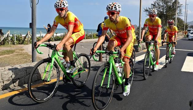La selección española de ciclismo en ruta, en Río.