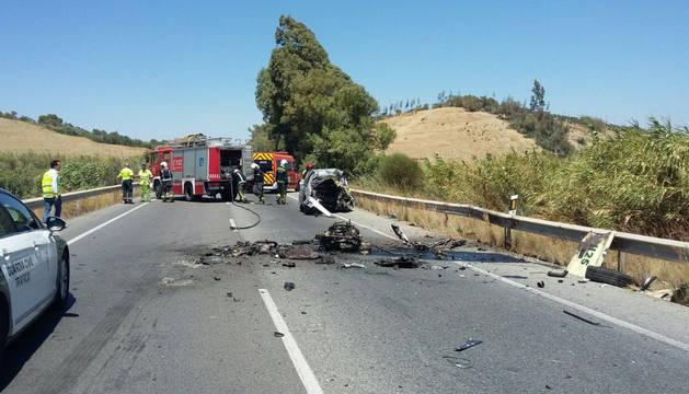 Estado de la carretera tras el suceso.
