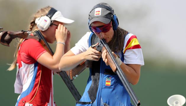 Fátima Gálvez, en la final de foso olímpico.