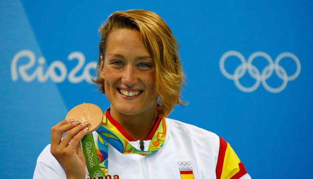 Mireia Belmonte se cuelga el bronce en los 400 estilos