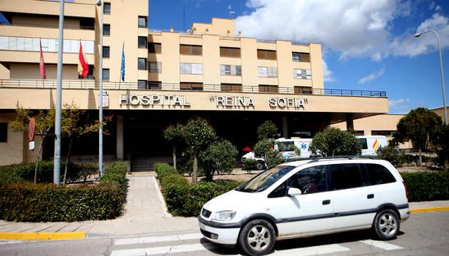 Una imagen de la fachada del hospital comarcal Reina Sofía de Tudela.