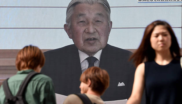 Mensaje televisado del emperador japonés Akihito.
