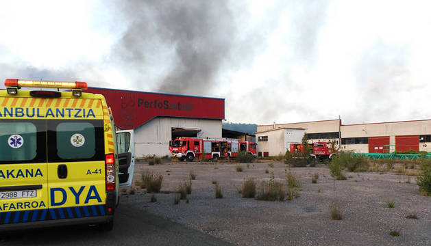 Incendio en un almacén de Alsasua