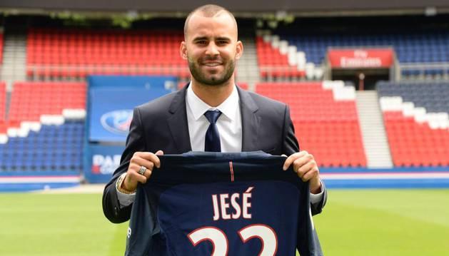 Jesé, presentado con el PSG.