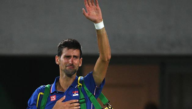 Djokovic se despide tras caer derrotado por Juan Martin Del Potro.