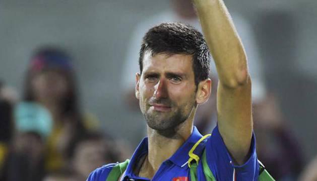 Djokovic, emocionados al término del partido