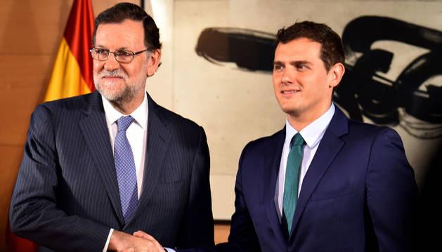 Mariano Rajoy y Albert Rivera en su anterior encuentro.