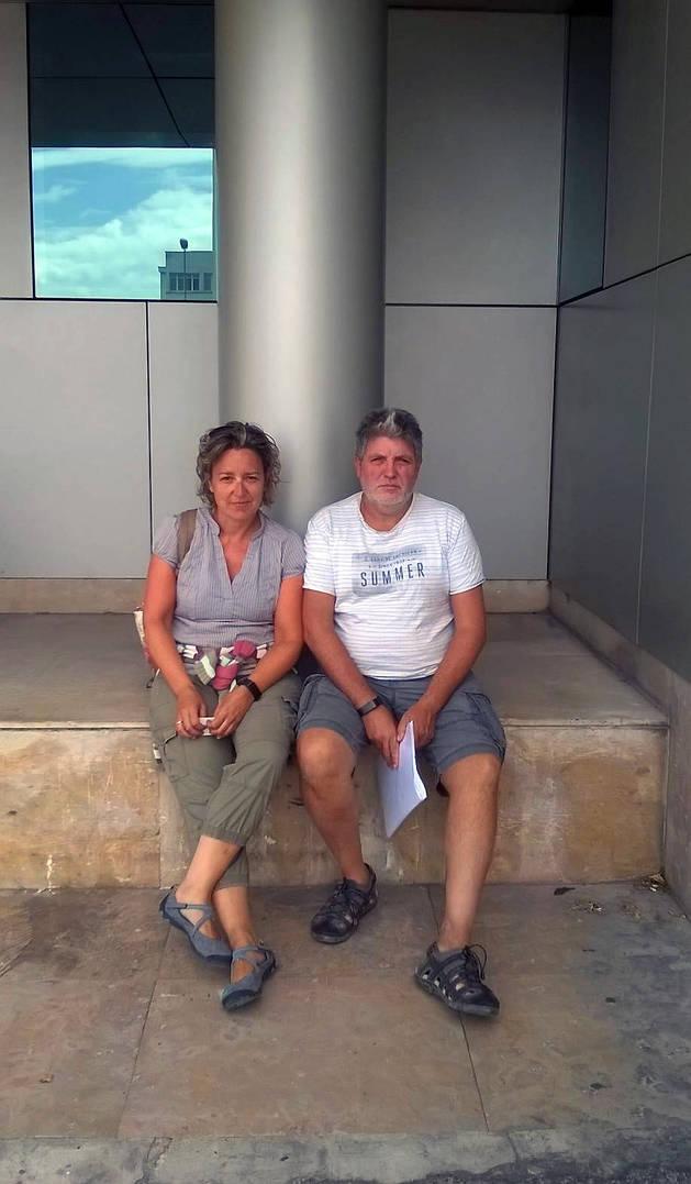 Gabriela López y Daniel Ángel Sáenz, ayer.