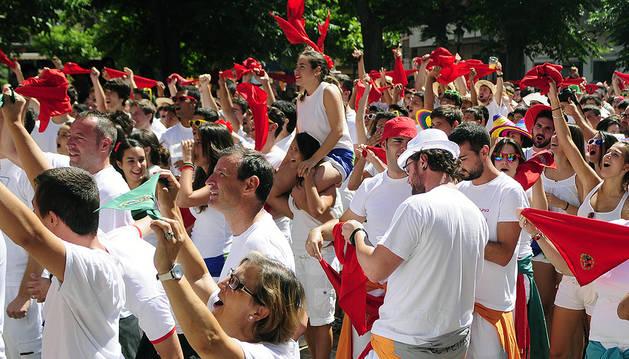 Imagen de las fiestas de Marcilla de 2015.
