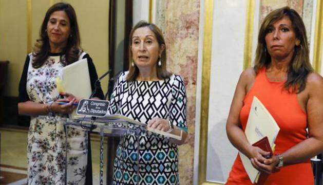 Ana Pastor, durante su comparecencia en el Congreso.